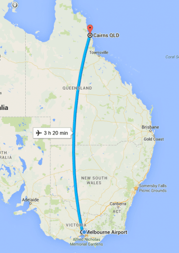 melb to cairns